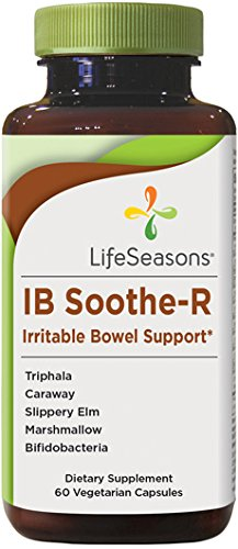 Digestion Soother - IB Soothe-R Irritable Bowel Support Supplement with Bifidobacterium Probiotic - Digestion Support, Helps Manage Diarrhea, Constipation, Abdominal Discomfort - LifeSeasons (60 Capsules)