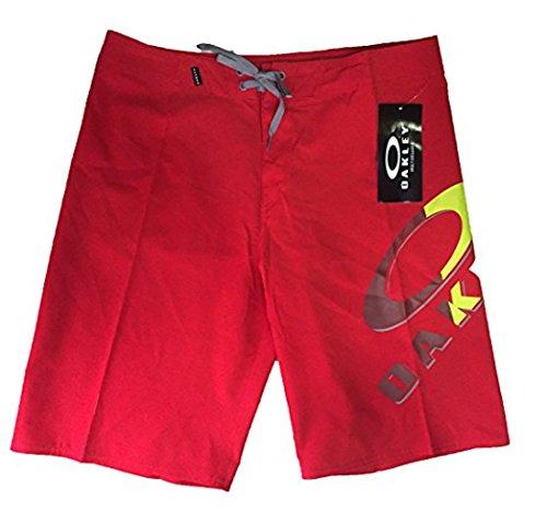 Oakley Men's Lock-Up Logo 22 Inch Boardshorts, Red Line, Size - Logos Oakley