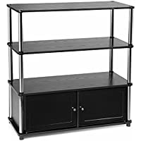 Convenience Concepts Highboy Stand for Flat Panel TVs up to 37-Inch, Black