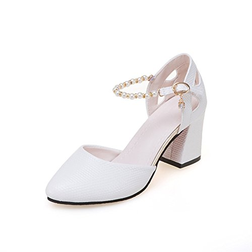 Women Heeled Sandals Ankle Strap Dress High Heels Stilettos Shoes Party Shoes White