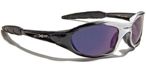 X-Loop Lunettes de Soleil - Sport - Cyclisme - Ski - Tennis - Moto - Plage / Mod. 010P Noir Gris Diesel Blue gyi1lP7i