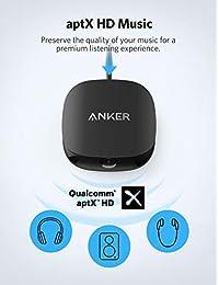 Anker Soundsync A3341   Transmisor y receptor Bluetooth 2 en 1 con Bluetooth 5, audio HD con sincronización sin retardos, y conexión AUX RCA óptica para TV y sistema estéreo doméstico
