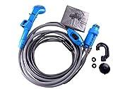 MAYA 12V car cigarette lighter Portable shower electrical pump for Outdoor Camping Car washing dog cleaning blue