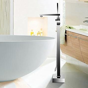Iglobalbuy Stehend Boden Montiert Bad Dusche Cube Freistehende Badewanne  Dusche Einhebelmischer
