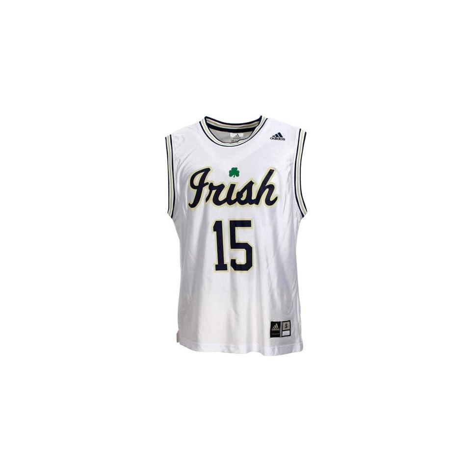 Adidas Notre Dame Fighting Irish #15 White Replica Basketball Jersey