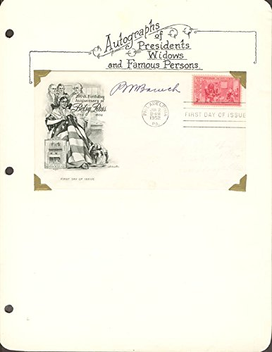 Bernard M. Baruch – First Day Cover Signed