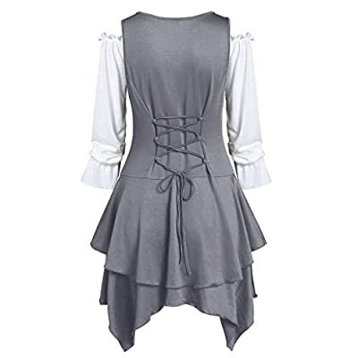 FEISI22☀ Women Plus Size Coat Blouse Button Two-Piece Set Pocket Layered Tank Long Sleeve Casual Tops Loose Blouse: Clothing
