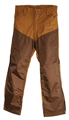 (Dan's Briar Proof, Nylon Faced Upland Game Pants, Made in U.S.A. (34W x 34L) Brown)