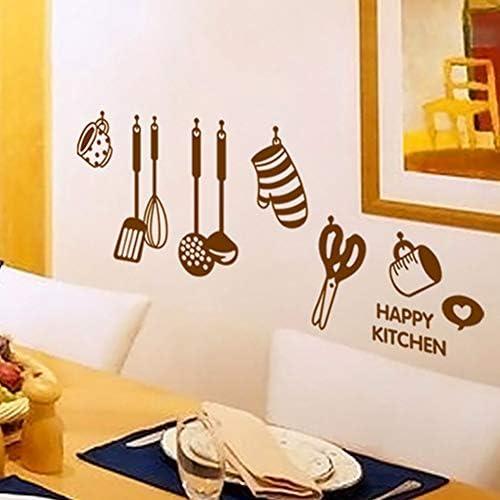 Taoziaa keukengerei wandsticker decoratie muurafbeelding keukendecoratie verwijderbaar gebruiksvoorwerp bakgoederen muurpapier