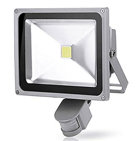 Leetop Pack of 2,Sensor de 30W Foco LED con Reflector Sensor de Movimiento - Blanco Frío: Amazon.es: Bricolaje y herramientas