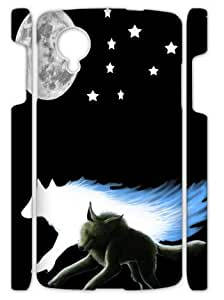 Running Wolf Moon Case Cover for Nexus 5
