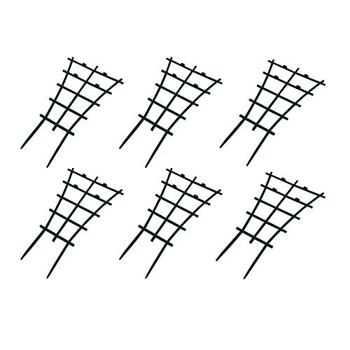 (Mokylor 12 Pcs Plant Stem Support,Mini Climbing Trellis Flower Vegetable Supports,Plastic Superimposed Garden DIY Tools for Courtyard Indoor Outdoor Climbing Plants)