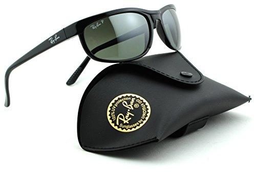 Ray-Ban RB2027 PREDATOR 2 Unisex Sunglasses (Black Frame, Crystal Mirror Grey Lens - Polarized Rb2027 Ray Ban