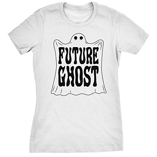 Cousin It Costumes - Womens Future Ghost Funny Halloween Costume Tee Spooky Novelty T shirt (White) -XXL