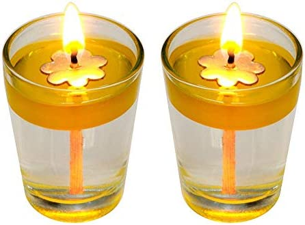 Diwali Lights Oil Candles Floating Candles ExLong Candle Wicks Multipurpose Floating Candles Flower Floating Wicks for Parties and Holidays Smokeless Candles Replacement Wicks Diwali Candles
