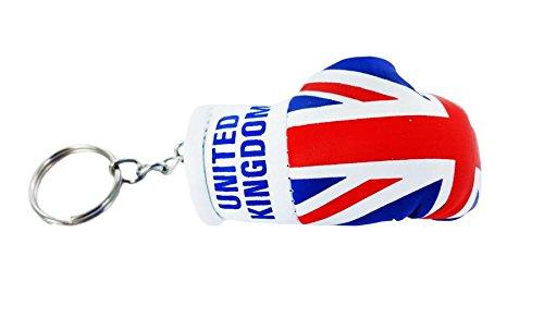 Porta chiavi Portachiavi Portachiavi, motivo: bandiera Regno Unito uk bandiera inglese union jack, guanto da boxe Akacha