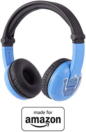 All New, Made for Amazon Volume Limiting Bluetooth BuddyPhones, PlayTime in Blue. Ages (3-7)