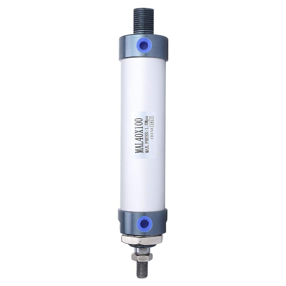 40 mm Di/ámetro 25//50//75//100 mm Mini Cilindro de Aire Aleaci/ón de Aluminio Varilla Simple Cilindro de Aire Neum/ático de Doble Efecto 100mm
