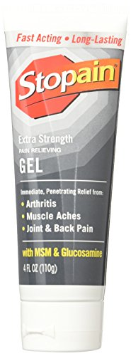 Stopain Extra Strength Gel Tube, 4 fl. oz., Non-Greasy and Non-Staining, Temporarily Relieves Muscle and Joint Pain Due to Simple Backache, Arthritis, Strains, Bruises and (Pain Stop)