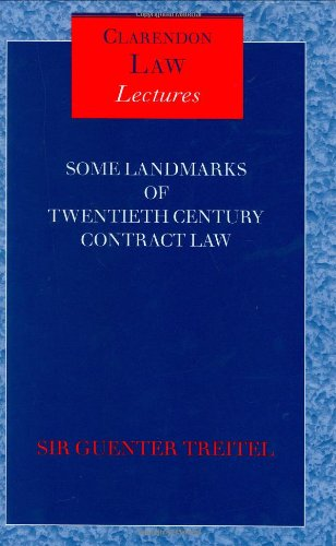 Some Landmarks of Twentieth Century Contract Law (Clarendon Law Lectures)