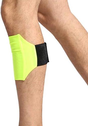 Fenical Handy Bein Band Elastisch Verstellbar Milch Seide Arm Band Halter Tasche Tasche für Übungssport (Gelb)
