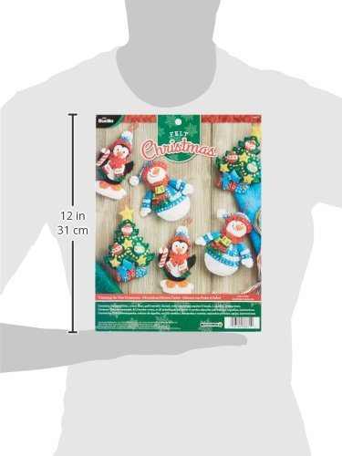 Bucilla Felt Applique Ornament Kits in Assorted Seasonal Styles