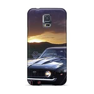 DrawsBriscoe Samsung Galaxy S5 Bumper Cell-phone Hard Cover Allow Personal Design Attractive Chevrolet Camaro (45) Image [Cva11216aEOt]
