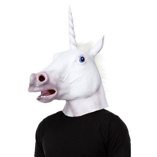 YTM(TM) Creepy Magical Unicorn Head Masks Halloween Latex Rubber - Fancy Dress