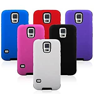 Mini - Defender Shockproof Robot Hybrid Cover Case for Samsung Galaxy S5 i9600 ,Color: Purple