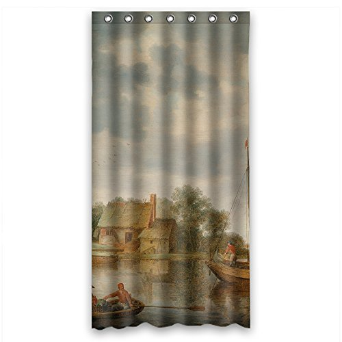 Price comparison product image PILZOO Polyester Beautiful Scenery Landscape Painting Bath Curtains Width X Height / 36 X 72 Inches / W H 90 By 180 Cm Gift Or Decor For Bf Teens Boys Mother Father. Eco Friendly - Fabri