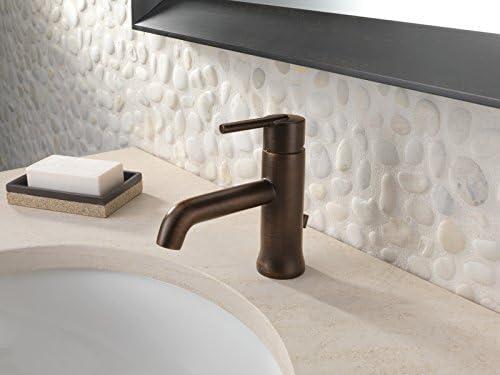 Delta Faucet Trinsic Bronze Bathroom Faucet, Single Hole Bathroom Faucet, Single Handle Bathroom Faucet, Metal Drain Assembly, Venetian Bronze 559LF-RBMPU