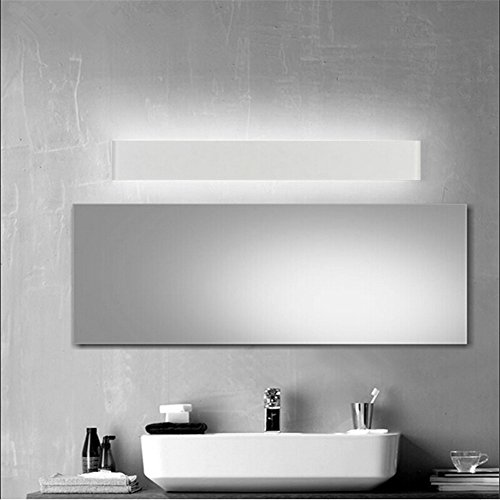 Bathroom Vanity Light Acrylic Led Mirror Front Light Make Up Wall Lamp Fixtures: Goodia White Shell LED Modern 16.14Inch 14W Acrylic LED Wall Light Make-up Lighting Bedroom