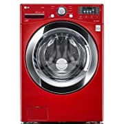 LG Electronics WM3370HWA 4.3 cu. ft. High Efficiency Front Load Washer in Wild Cherry Red ENERGY STAR