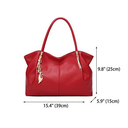 y bandolera clutches Shoppers y Bolsos bolsos hombro Burdeos mano Mujer Carteras de de 6aAwRvYqx