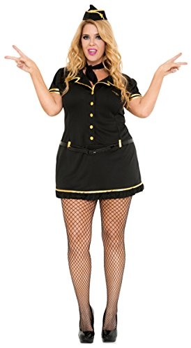 Mile High Club Stewardess Plus Size Adult Costume - Plus Size (Stewardess Costume Plus Size)