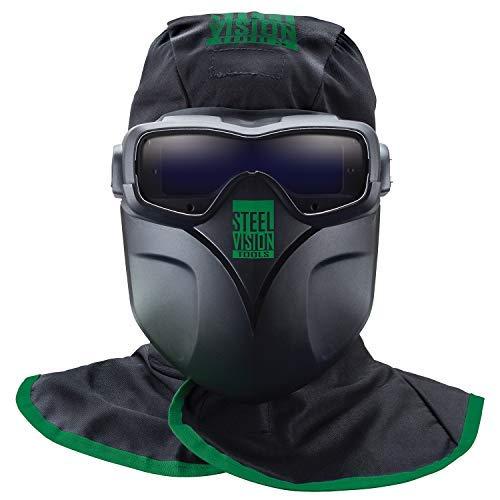 Steel Vision 32000 Auto Darkening Welding Helmet Mask Kit - Welding Goggles, Mask, Hood & Bump Cap by Steel Vision
