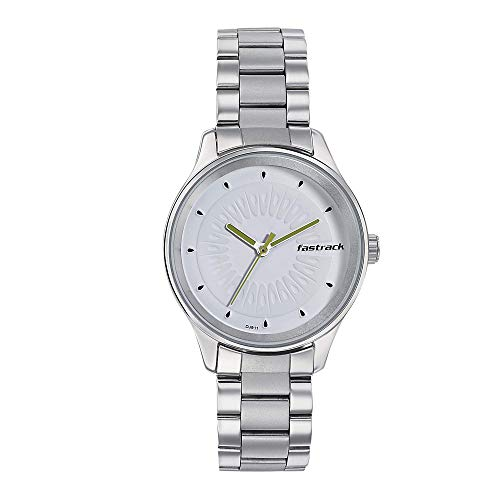 Fastrack Tropical Fruits Analog White Dial Women's Watch 6203SM01/NN6203SM01