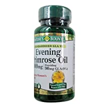 Nature's Bounty Evening Primrose Oil 1000mg 60 Sgels (3 Pack)