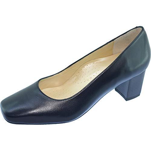 Confort Chaussures Escarpin Talon D'hotesses Bleu Cuir Free Largeur Carré Grande Femme Escarpins Tobago Uniforme Alarm Marine vxIAz
