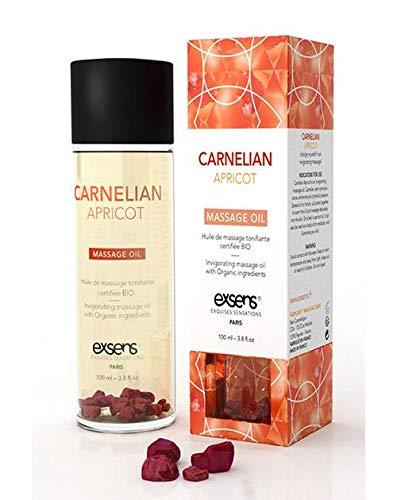 EXSENS of Paris Organic Massage Oil w/Stones - Carnelian Apricot by Exsens