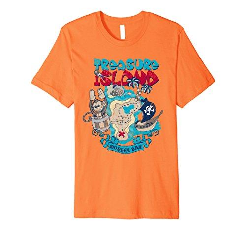 Mens TREASURE ISLAND - funny monkey pirate ship adventure...