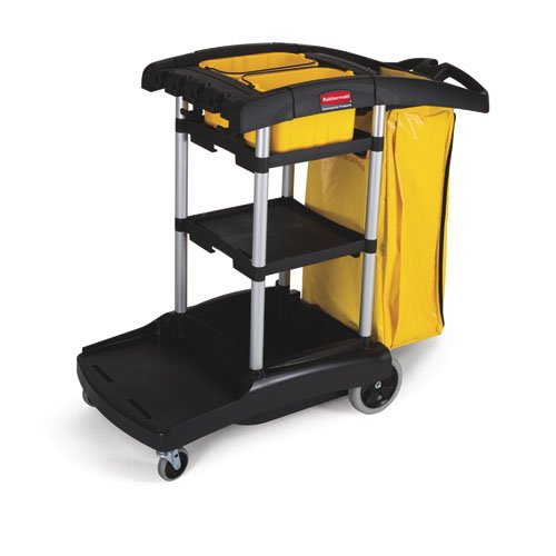 RCP9T72 - Black High-Capacity Cleaning Cart