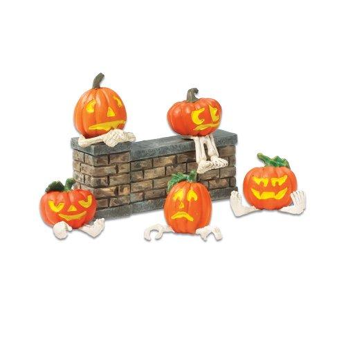 Department 56 Accessories for Villages Halloween Pumpkin Heads (Set of 5) ()