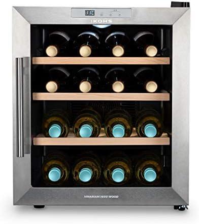 Vinoteca con capacidad para almacenar hasta 16 botellas, pensada para configurar todos los parámetro