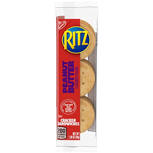 Ritz Peanut Butter Cracker Sandwiches, 8 Count Individual Snack Packs (Best Delivery In Austin)