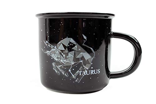 - Stargazer TAURUS Astrology Camp Mugs by Creature Cups | Ceramic Horoscope 13.5 Ounce Cups with Traits Revealed Inside | Birthday Constellation Signs | Holiday Gift for Coffee & Tea Lovers