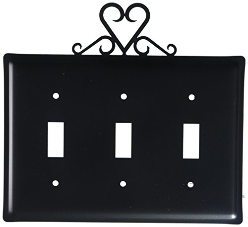 8 Inch Heart Triple Switch Cover