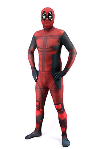 yunqicos Teens Unisex Lycra Spandex Zentai Halloween Cosplay 3D Style Costumes