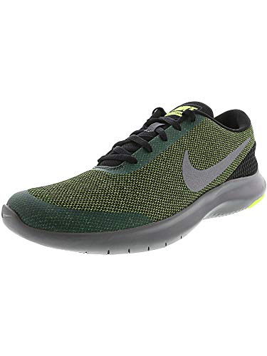 Nike Men's Flex Experience Rn 7 Running Shoes (11 D(M) US, Black/Metallic Dark Grey-Volt) (Footwear Green Metallic)