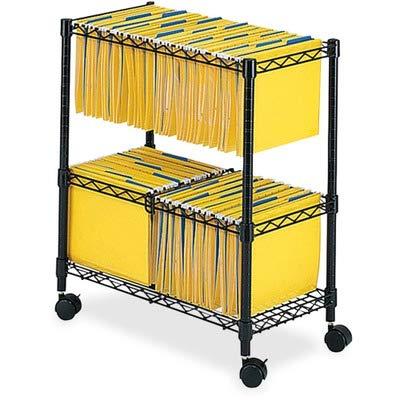 SAF5278BL - Safco 2-Tier Rolling File Cart ()